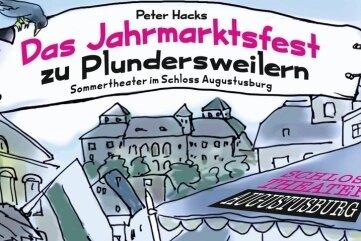 Der Augustusburger Maler und Grafiker Uwe Schwarz hat das Plakat gestaltet, das sich auch auf Flyer und Eintrittskarten wiederfindet.