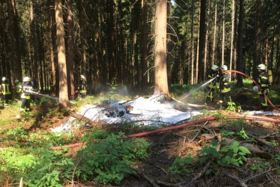 Zu einem Schwelbrand kam es am Samstagvormittag bei Waldkirchen.
