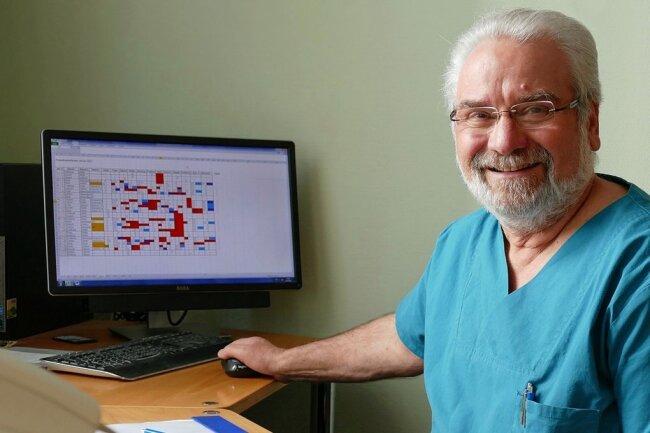 Dr. Norbert Heide, Chefarzt der Anästhesie und ärztlicher Direktor des Klinikums Mittleres Erzgebirge, hatte in dieser Woche seinen letzten Arbeitstag. Zum 1. April geht er in den vorzeitigen Ruhestand.