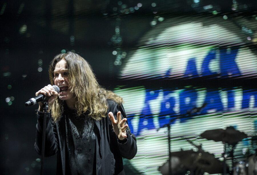 Ozzy Osbourne mit seiner Band Black Sabbath in Ungarn. Am Montag wurde der Musiker 70.