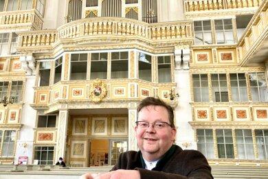 """Matthias Schubert, Kirchenmusikdirektor von """"St. Georgen"""" in Schwarzenberg, freut sich ab 12. Juli auf einen weiteren Musiksommer."""