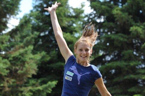 Der WM-Sommer kann kommen - Kristin Gierisch ist gut drauf.