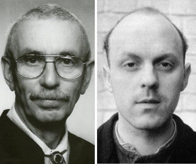 Karl Wilhelm Fricke (rechts) und Peter Naundorf.