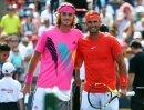 Nadal (r.) siegte im Duell der Generationen