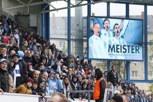 Am 4. Mai konnte der Chemnitzer FC vorzeitig den sportlichen Aufstieg feiern.