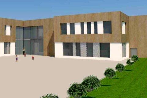 Ein Entwurf als Diskussionsgrundlage: So könnte ein Schulzentrum in Großhartmannsdorf aussehen.
