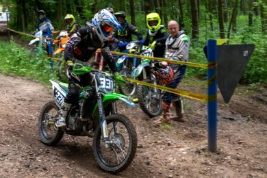 Motorsportler des MSC Wechselburg trainieren auf ihrer Strecke legal - wie hier der elfjährige Matti.