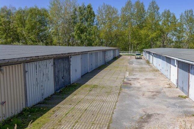 Der Garagenkomplex am Friedensring.