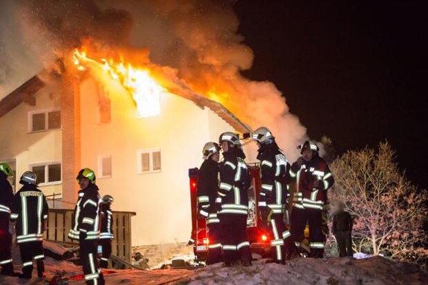 Beierfeld: Technischer Defekt löst Hausbrand aus
