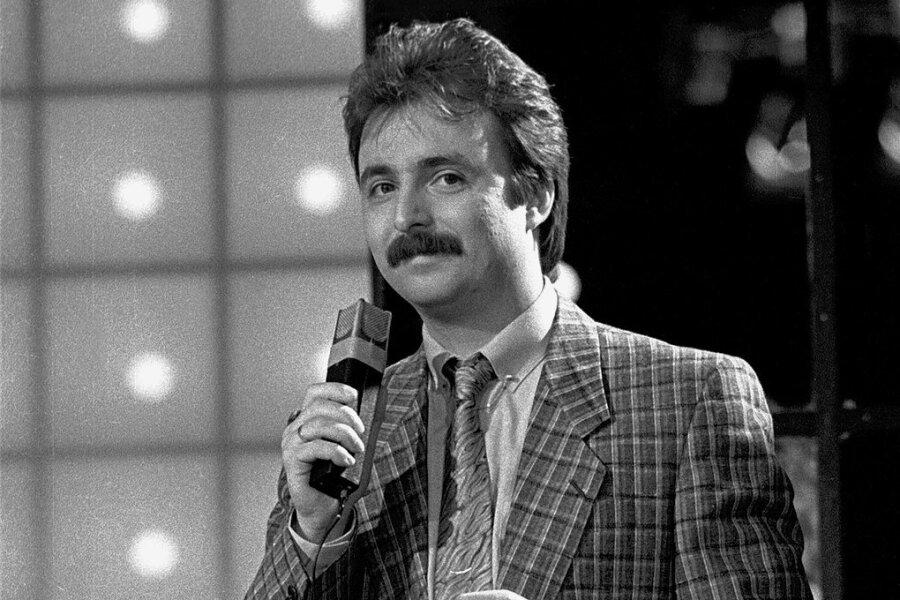 """Jürgen Karney in der Show """"Bong"""" in den 80er-Jahren."""