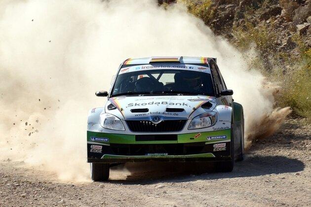 Sepp Wiegand im Skoda Fabia S2000 bei der Rallye Zypern.