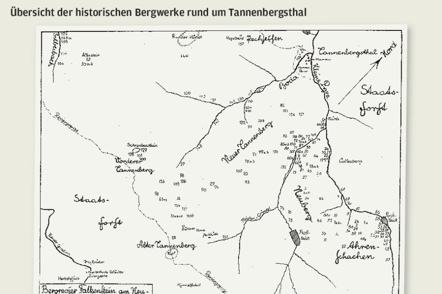Der Boden um Tannenbergsthal gleicht einem Schweizer Käse