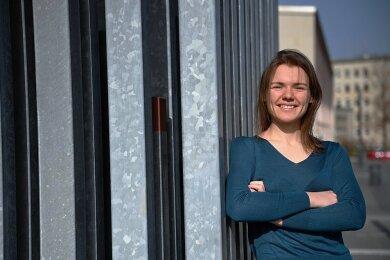Den Campus an der Reichenhainer Straße hat Marina Ivanova nur für den Fototermin besucht - ihre Doktorarbeit schreibt sie derzeit fast ausschließlich daheim.