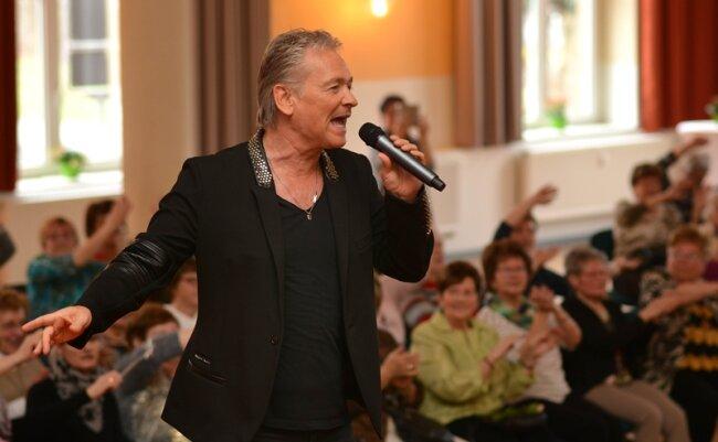 Olaf Berger begeisterte das Publikum im Kultur- und Schützenhaus.