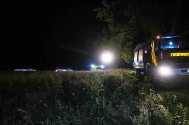 Von der Feuerwehren waren am Abend 42 Einsatzkräfte mit neun Fahrzeugen im Einsatz.