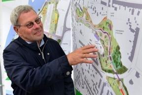Landesgartenschau-Chef Jochen Heinz bei einer Präsentation zur nächsten Landesgartenschau 2019 in Frankenberg.