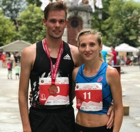 Ein starkes Duo: Kristina und Sebastian Hendel, hier beim Straßenlauf im kroatischen Karlovac, nehmen Anlauf auf Tokio 2021.