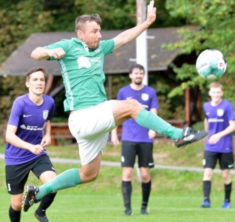 Treffsicher: Am vergangenen Spieltag erzielte Swen Häuser das Führungstor beim 4:1-Erfolg gegen Empor Possendorf.