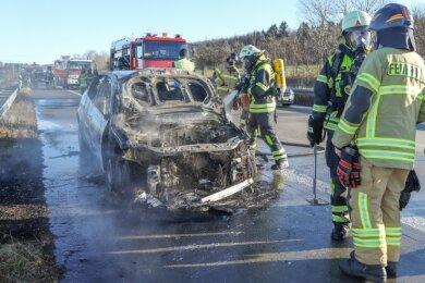 Die Feuerwehr musste zum Einsatz auf die A72.