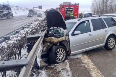 Zu einem Unfall kam es am Dienstag auf der A 4.