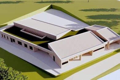 So soll die neue Großrückerswalde Kindertagesstätte einmal aussehen. In dem modernen Gebäude finden 50 Kinder Platz. Es soll die bestehende Einrichtung am Kirchberg ergänzen, deren Kapazitäten ausgelastet sind.