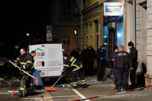 Ein Sprengsatz war am 3. Januar 2019 vor dem AfD-Büro an der Bahnhofstraße in Döbeln detoniert.