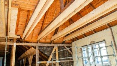 Diverse neue Balken mussten unter anderem im Dachbereich eingezogen werden.