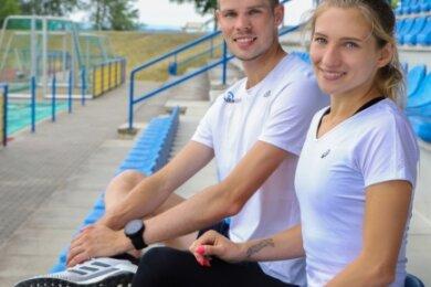 Auch wenn das Foto im vergangenen Sommer gemacht wurde, gibt es die aktuelle Gemütslage von Sebastian und Kristina Hendel gut wieder. Beide sind optimistisch ins Sportjahr 2021 gestartet.