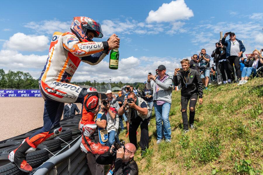 Am Sachsenring erneut nicht zu stoppen: Marc Marquez.