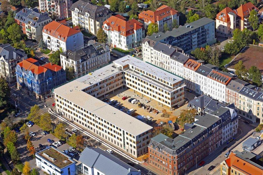 Am 7. Oktober, als dieses Luftbild entstand, liefen noch Restarbeiten.