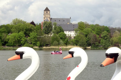 Der Bootsverleih am Schlossteich hat bereits seit dem 1. Mai wieder geöffnet.