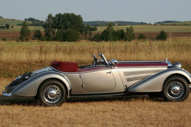 Vom Horch 855 Special Roadster wurden 1938 und 1939 nur sieben Stück gebaut. Der Wagen hatte einen 120 PS starken Achtzylinder-Motor und lief 140 km/h Spitze. Kaufpreis: 22.000 Reichsmark.