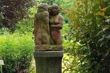 Diese Skulptur stammt vom Plauener Künstler Rolf Magerkord.