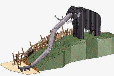 So soll das neue Riesenmammut im Chemnitzer Tierpark aussehen.