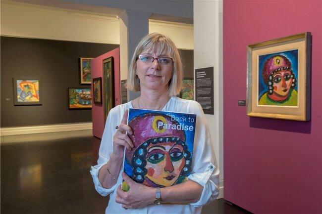 Petra Lewey, Leiterin des Max-Pechstein-Museums, hat die Zwickauer Fassung der Wanderausstellung betreut.
