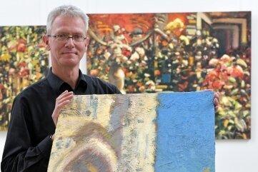 Der Augustusburger Künstler Karsten Mittag zeigt seine Arbeiten in der Petrikirche Freiberg.