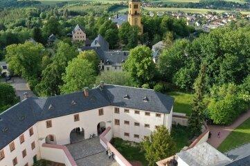 Vom Turm der Stadtkirche Augustusburg und vom Trompeterstuhl des Schlosses (Foto) erklingen Konzerte.