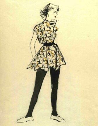 Modellentwürfe wie dieser von Leonie Bauer können im Stadtarchiv eingesehen werden.