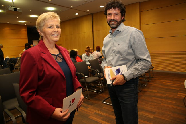 Ilona Maier und Raik Schubert - die beiden Kandidaten der Bürgermeisterwahl in Niederwiesa.