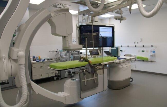 So sieht der Behandlungsraum aus.