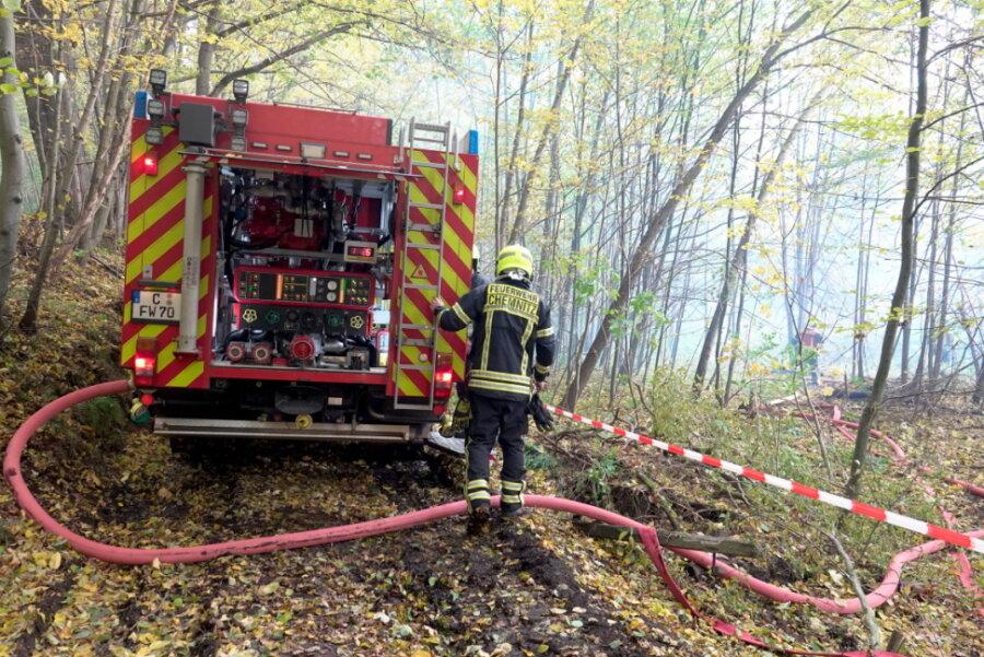 Erneut Brand in der alten Spinnerei in Wittgensdorf