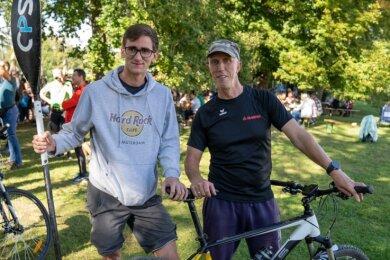 Uwe Wichmann (rechts) ging bei seiner 13. Teilnahme mit Schwiegersohn David Faude an den Start.