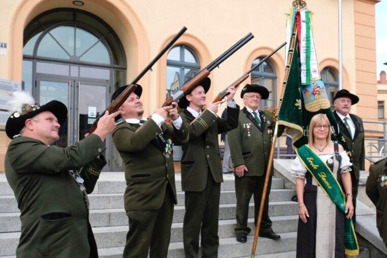 Privilegierte Bürgerschützengesellschaft zu Reichenbach mit Sportplakette geehrt