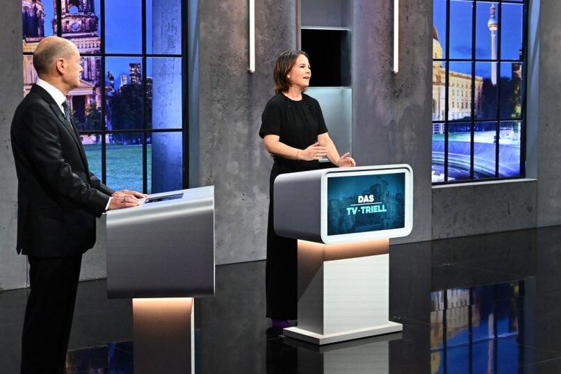 Während dreier TV-Auftritte haben die Kanzlerkandidaten Olaf Scholz, Annalena Baerbock und Armin Laschet (Foto von links) im zurückliegenden Wahlkampf versucht, ihre unterschiedlichen Themenschwerpunkte herauszustellen.