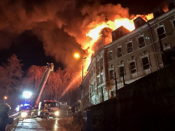 Am Montagabend kam es in Annaberg-Buchholz zu einem Großbrand.