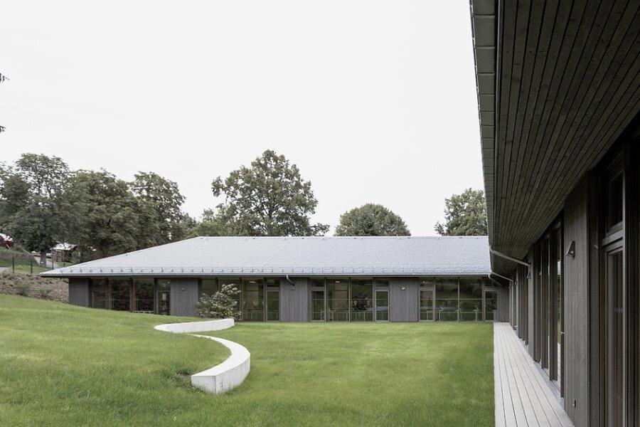 Die Grundschule Gornsdorf hatte für ihre Gestaltung auch einen bei Architekturpreis erhalten.