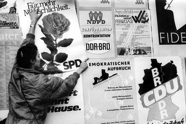 Wahlkampf im Jahr 1990 in der DDR