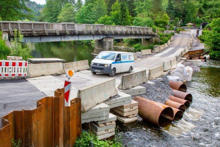 Die Schönthalbrücke wird saniert.