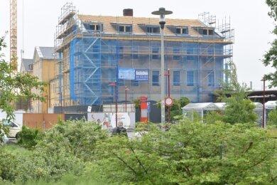 Noch ist der Bahnhof Freiberg eine Baustelle. Doch er soll wieder ein würdiges Tor zur Stadt werden.