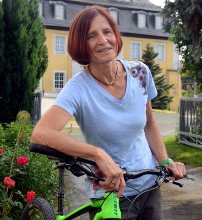 Für Romy Lindner-Dörfel spielt Sport noch immer eine große Rolle. Die Ellefelderin hält sich vor allem mit Mountainbike-Touren fit.